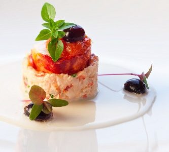 Vegetable terrine with black olives
