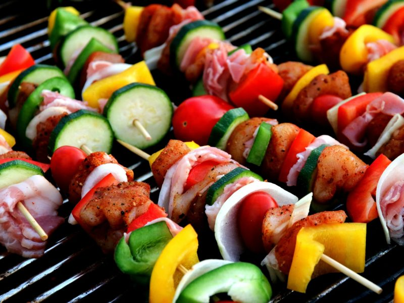 Beef and Vegetable Shish Kebabs